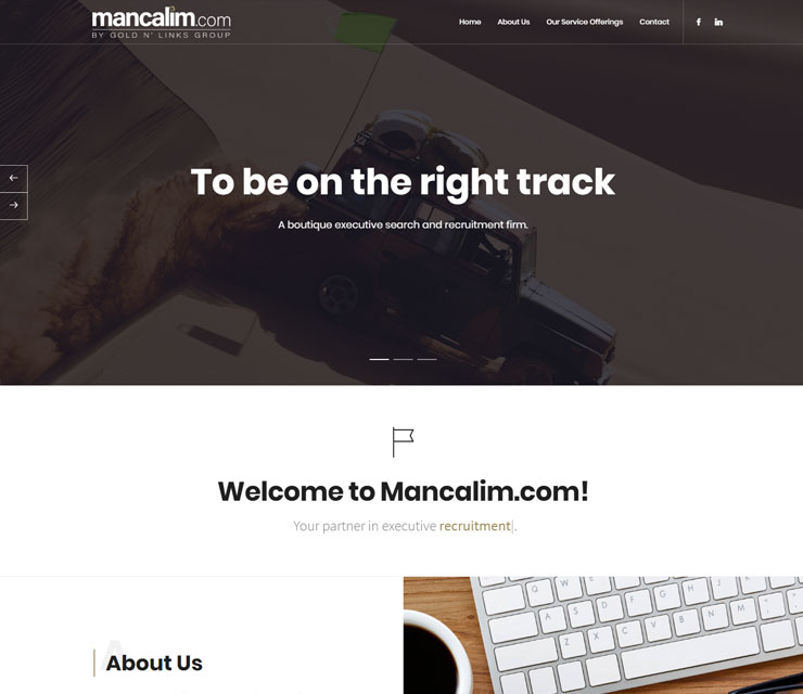 Mancalim Website Development