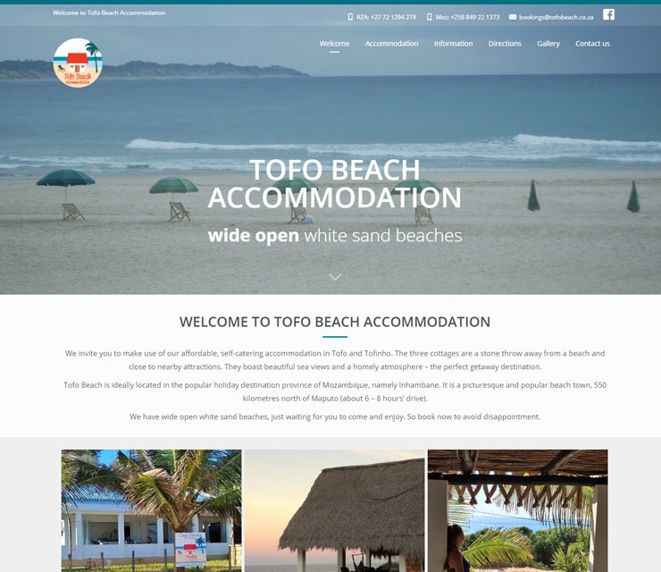 Tofobeach Website Development