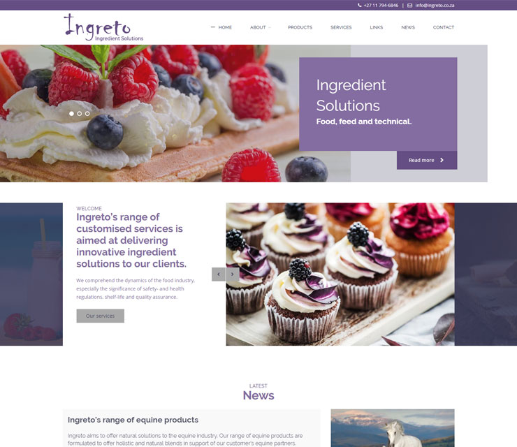 Ingreto Website Development